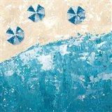 Beach Days Blue Art Print