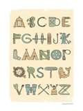 Camping Alphabet Art Print