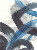 Blue Brushy Abstract I Art Print