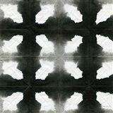 Aquarelle Black and White Square III Art Print