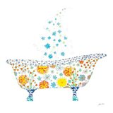 Flower Garden Tub Art Print