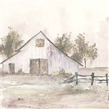 White Barn II Art Print