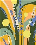Lavender and Craspedia Art Print