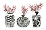 Geometric Vases I Art Print