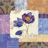 Tiled Poppies I - Purple Art Print