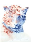 Copper and Blue Cheetah Art Print