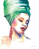 Woman in Green Art Print
