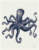 Ocean Finds III Navy Art Print