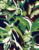 Olive Buds Brown Art Print