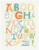 Funky Letters Bright Art Print