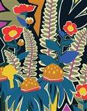 Ferns and Wildflowers II Art Print