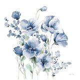 Secret Garden Bouquet II Blue Art Print