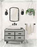 Attic Bathroom I Light Crop Art Print