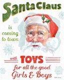 Santa Signs II Art Print