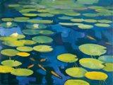 Lily Pond with Koi Art Print