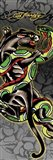 Panther & Snake Art Print