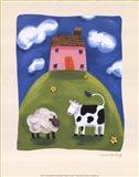 Pink Farmhouse Art Print