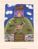 Purple Farmhouse Art Print