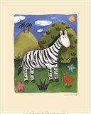 Zara the Zebra Art Print