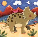Baby Timmy The Triceratops Art Print