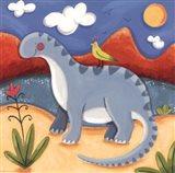 Baby Dippy The Diplodocus Art Print