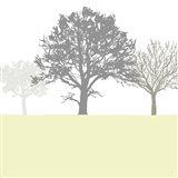 Treeline Yellow Art Print