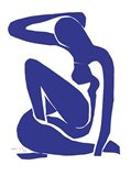 Blue Nude I Art Print