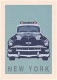 New York - Cop Car Art Print