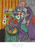 La Robe Violette et Anemones Art Print