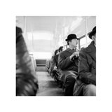 A City Gent On The Top Deck Of A Bus Art Print