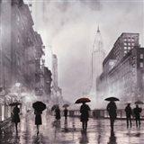 New York Red Umbrella Art Print