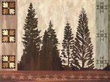 Pine Trees Lodge I Art Print