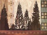 Pine Trees Lodge II Art Print