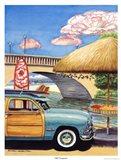Turq Woody III Art Print