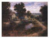 Watermill Pond Art Print