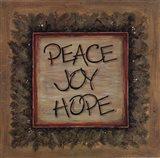 Peace Joy Hope Art Print
