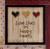 Love Lives In Happy Hearts Art Print