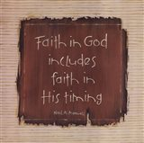 Faith In God Art Print
