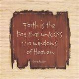 Faith Is The Key Art Print