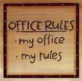 Office Rules Art Print