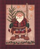 Woodland Santa Art Print