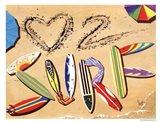 Love 2 Surf Art Print