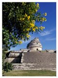 Low angle view of El Caracol Observatory Art Print
