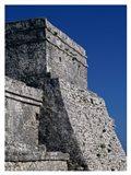 Wall of a building, El Castillo Art Print