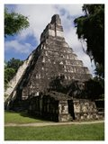 Facade of the Temple of the Great Jaguar, Tikal Art Print
