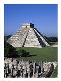 Ancient structures, El Castillo, Chichen Itza (Mayan), Mexico Art Print
