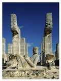 Mayan Statues Temple of the Warriors Art Print