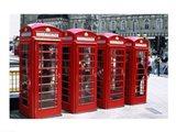 Telephone booths in a row, London, England Art Print