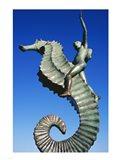 Sea horse statue, Puerto Vallarta, Mexico Art Print