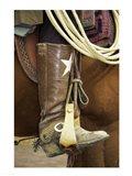 Cowboy riding a horse Art Print